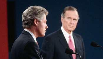 Bill Clinton and George Bush Debate